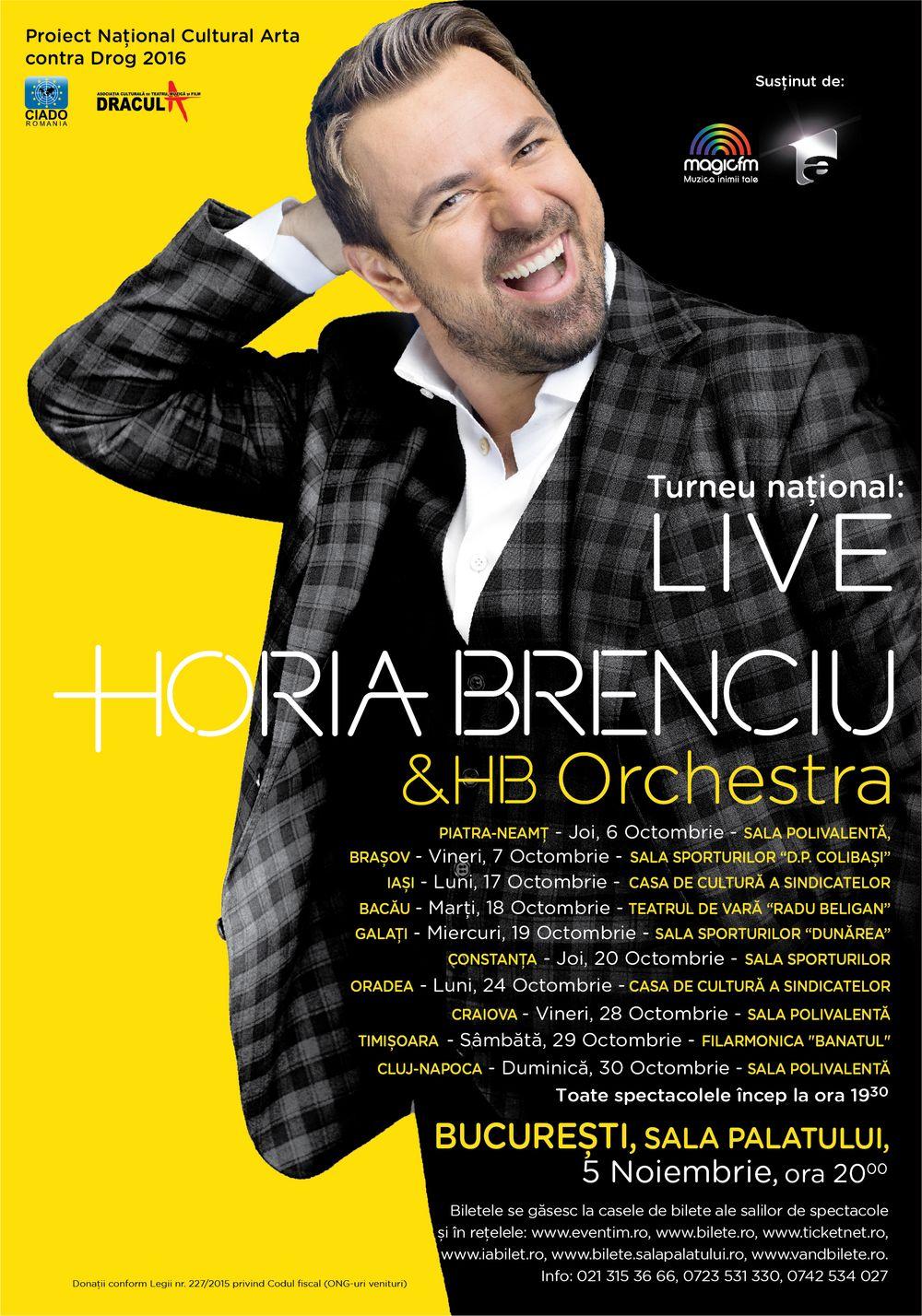 Horia Brenciu & HB Orchestra - Turneu National