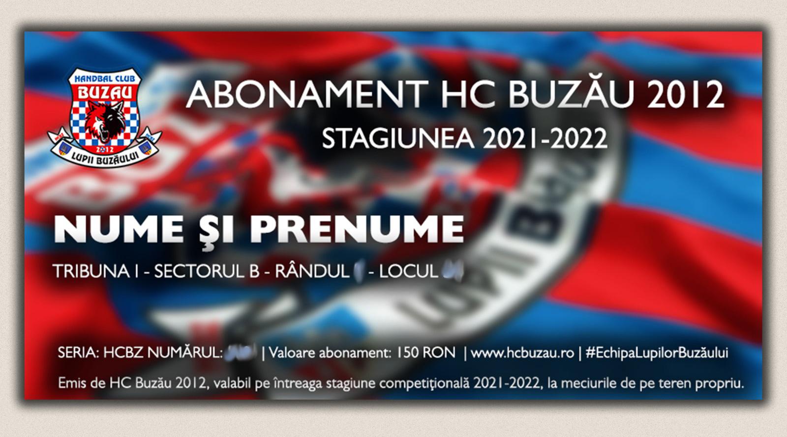 HC Buzău 2012 -  Abonament - Stagiunea 2021-2022