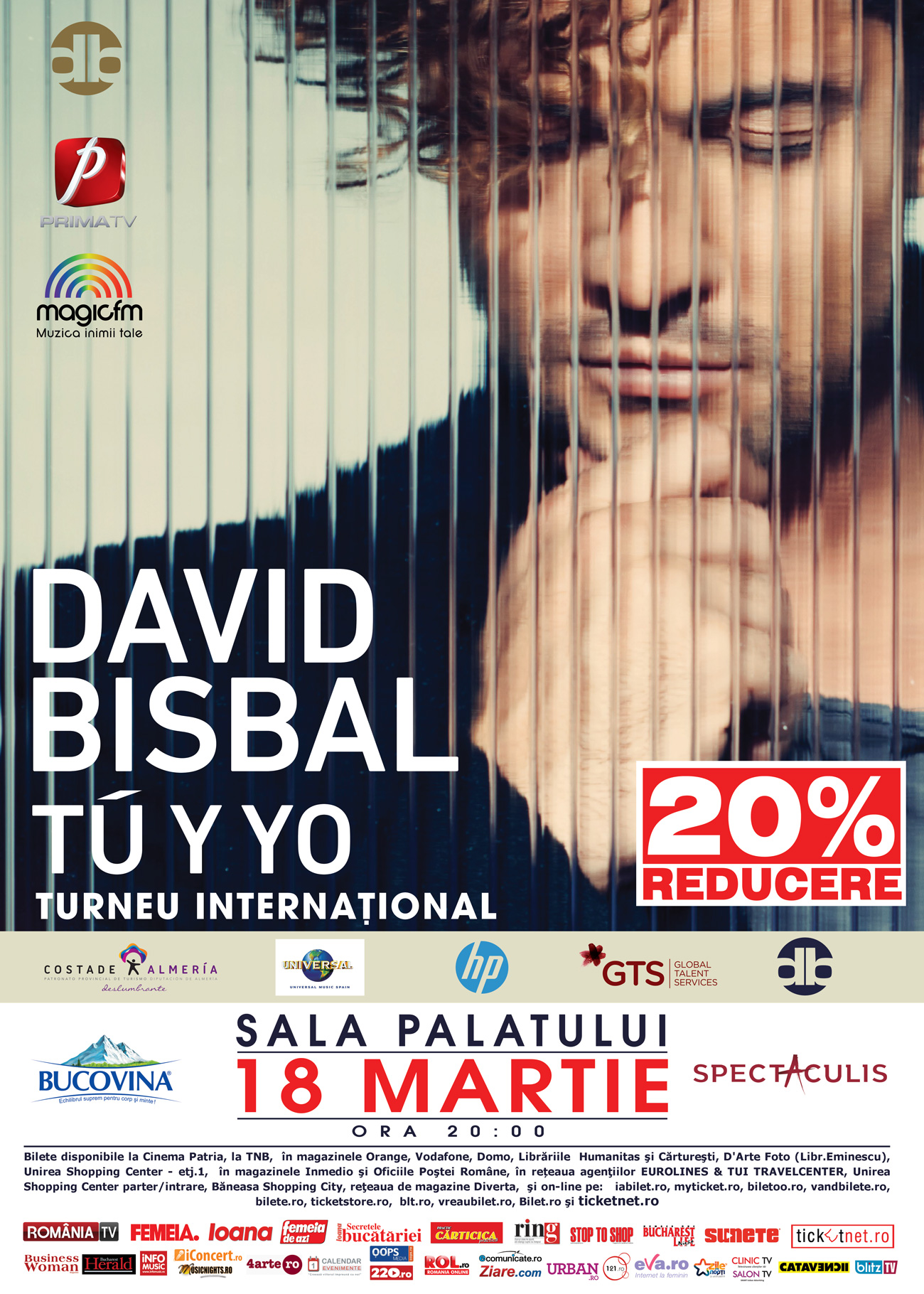 DAVID BISBAL - Turneul Internațional Tú Y Yo