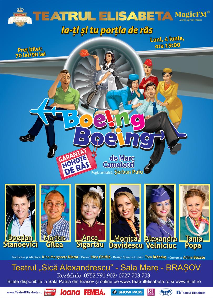 """BOEING BOEING -Teatrul Dramatic """"Sică Alexandrescu"""" - Sala Mare - BRAȘOV  Teatrul Elisabeta"""