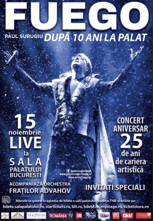 LIVE LA SALA PALATULUI - CONCERT ANIVERSAR FUEGO